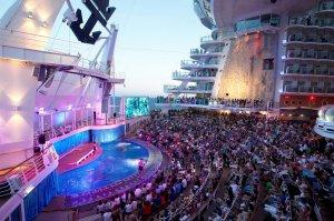 "The Oasis of the Seas has 25 restaurants, 2,394 crew members and seven themed ""neighborhoods."" (Courtesy Royal Caribbean via CNN)"