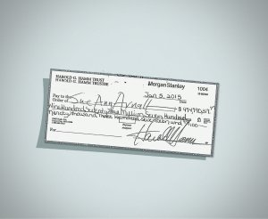 Sue Ann Arnall rejected her ex-husband Harrold Hamm's divorce settlement check. The check amount, written for nearly $1 billion dollars, was agreed upon in November, 2014, but Arnall argues she is entitled to more. (Credit: District Court, Oklahoma County via CNN)