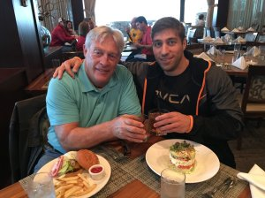 Ryan Ferguson and his dad toast on their trip to Atlanta for the 2014 SEC championship game. (Courtesy Ryan Ferguson via CNN)