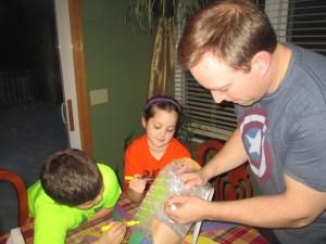 Scott Sabol and his kids design the SpongeBob SquarePants egg contraption