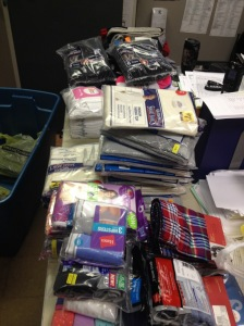 Second District police officers clothing drive for the homeless