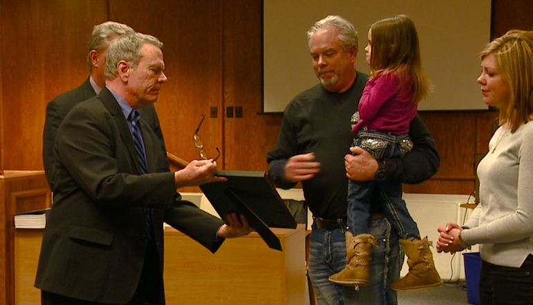 Proclamation to Justin Winebrenner family