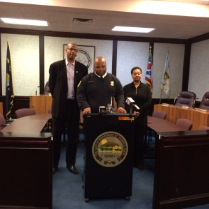 (Police in Warrensville Heights hold press conference to give update on barbershop shooting)