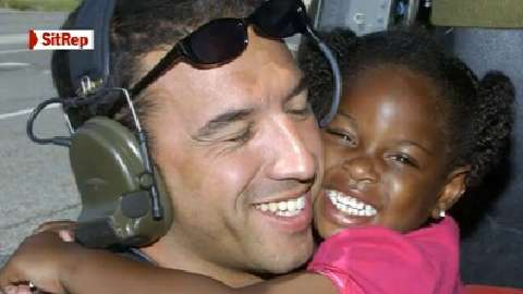 Master Sgt. Mike Maroney is asking for help locating  little girl he helped rescue after Hurricane Katrina struck  New Orleans (Photo: Airman 1st Class Veronica Pierce/Air Force)