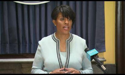 Baltimore Mayor Stephanie Rawlings-Blake (Courtesy: via CNN video)