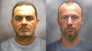 The New York State Police issued these 'progression' photos of Richard Matt and David Sweat on June 17, 2015. Matt, 49, and Sweat, 35, escaped from the Clinton Correctional Facility in Dannemora, New York sometime after they were last seen at bed check Friday night, June 5, 2015. The pair left decoys to trick guards into think they were asleep as they made their escape. Both were serving time on separate murder convictions. (New York State Police via CNN)