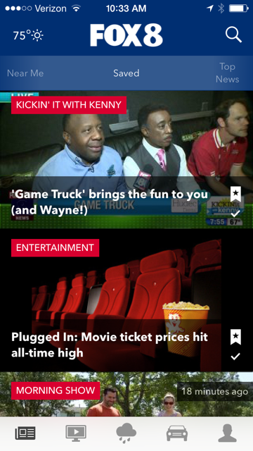 The all-new FOX 8 app