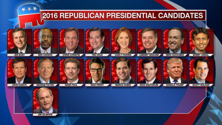 17 GOP Presidential hopefuls