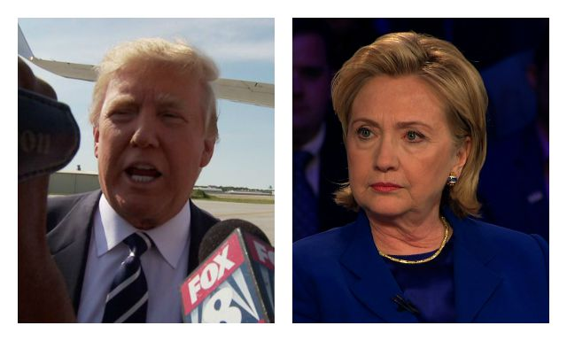 Donald Trump and Hillary Clinton- (Trump via WJW/Clinton via CNN)