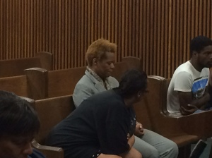 Uloma Curry in court on Sept. 10, 2015