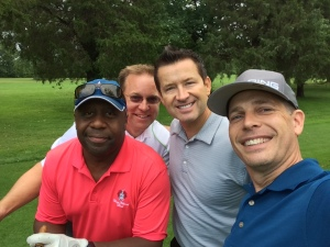 Kenny, Scott, Gabe and Todd at the Woollybear golf outing in Vermilion on Sept. 4, 2015