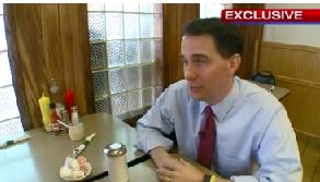 Scott Walker gives an exclusive one-on-one interview with FOX 8 the day after the GOP debate (Courtesy: FOX 8)