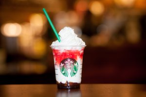 """Starbucks is getting into the Halloween spirit this year with a Frappuccino that would make Bela Lugosi proud. The company's new vampire-inspired """"Frappula Frappuccino"""" will be available from Oct. 28 to Oct. 31 at U.S. stores. The drink includes white chocolate sauce, and blended milk and ice, sandwiched between mocha sauce and whip cream. It also has raspberry syrup on the rim. The drink will also be available in Canada from Oct. 28 to Nov. 1. (Photo Credit: CNN)"""