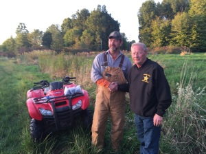 Vic Sutton with Trumbull Co. Sheriff Thomas Altiere