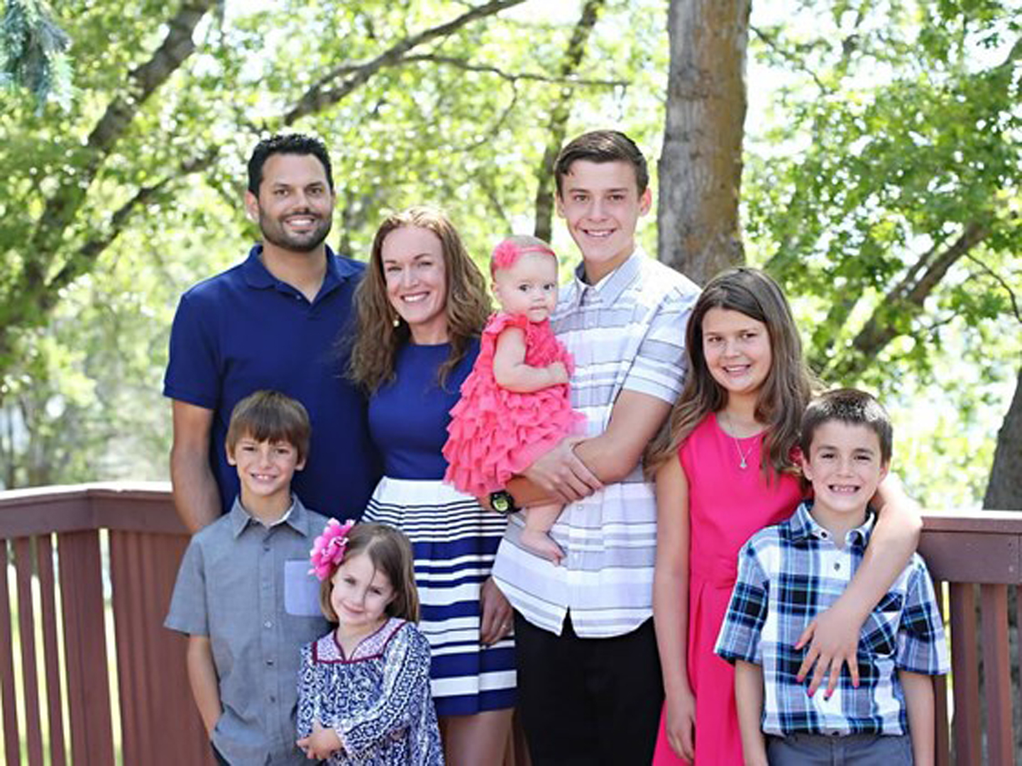 The Wetzel family is seen in a photo posted to a YouCaring fundraising page.