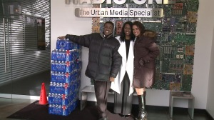 Wayne Dawson and Kristi Capel donated 20 cases of water.