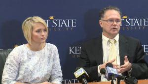 Kent State University student Alana Biles and Professor Don Williams