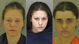 Brenda Frye (left), Heather Frye and Jessica Irons (Photo courtesy: Akron police)