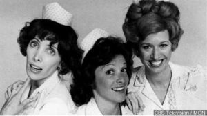 Cast photo of the waitresses at Mel's Diner from the television program Alice. From left: Beth Howland as Vera, Linda Lavin as Alice, and Polly Holliday as Flo, Photo Date: 8/9/1976 (Photo Credit: CBS via MGN)