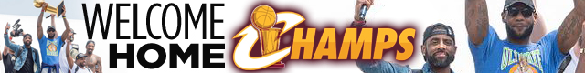 Cleveland Cavaliers champs banner