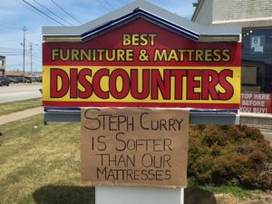 Mentor furniture store sign