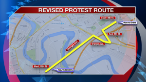 RNC protest parade update map