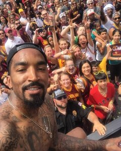 "From Maria: ""JR smith took my phone and took the photo!"""