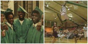LeBron as a high schooler