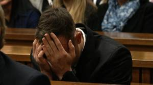 Former Olympic sprinter Oscar Pistorius broke down at a sentencing hearing for the murder of his girlfriend, Reeva Steenkamp, after her cousin told the court that the victim didn't love him.