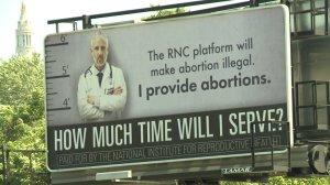 Billboard ahead of RNC