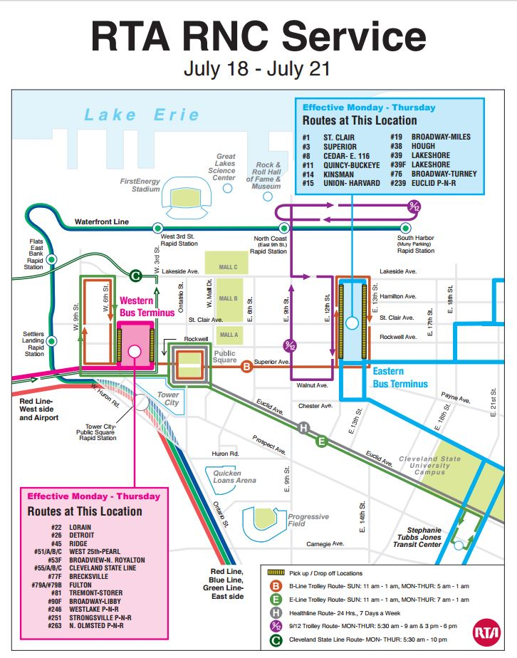 Map courtesy of Cleveland RTA