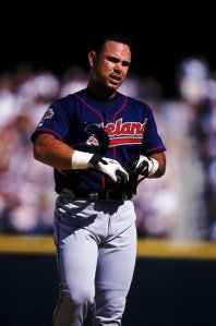 21 Aug 1999: Carlos Baerga #9 of the Cleveland Indians walks on the field during the game against the Seattle Mariners at Safco Field in Seattle, Washington. The Indians defeated the Mariners 6-0. Mandatory Credit: Otto Greule Jr. /Allsport