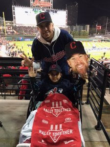 Child at Indians game