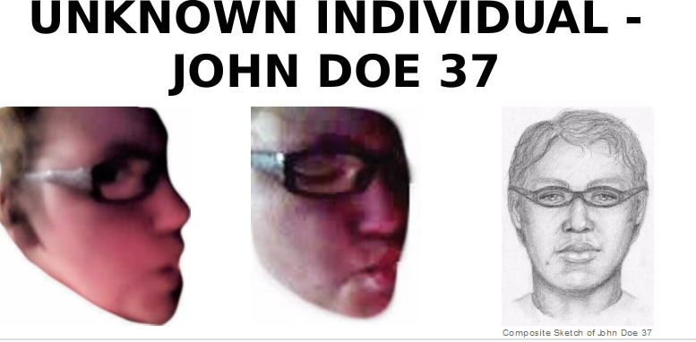 FBI releases sketch of John Doe 37