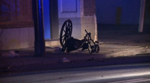 man in wheelchair hit