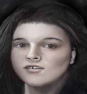 Photo composite released of woman, whose remains were found in 1975 (courtesy: FBI)