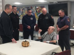The firefighters recently visited Duffy. (Walter Imparato/CNN)