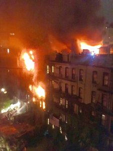 The blaze engulfed the five-story building. (Walter Imparato/CNN)