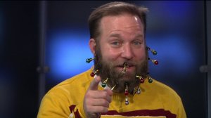 FOX 8 anchors spruce up Scott's beard with some ornaments!