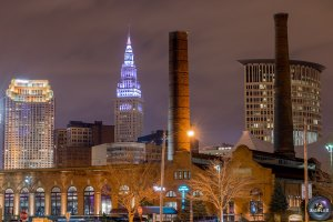 Terminal Tower in Cleveland (Photo courtesy: FOX 8's P.J. Ziegler)