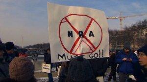 Pro & Con Gun Control Supporters March in DC