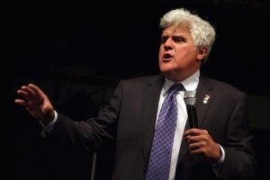 Jay Leno performs a monologue