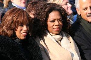 Obama inauguration – Oprah Winfrey and Gayle King