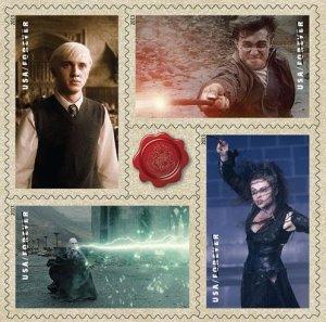 USPS Harry Potter stamps