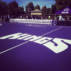 The Sacramento Kings and Kaiser Permanente teamed up to build two new community basketball courts in south Sacramento. Courtesy: Sacramento Kings