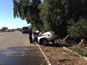 A teen driver is dead and five passengers injured after this accident in Stockton Friday morning