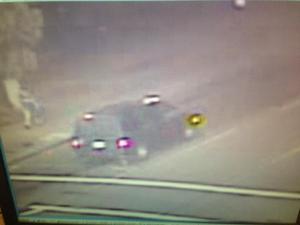 Stockton Police said this van hit a department employee, killing him. Courtesy: Stockton Police