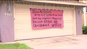 two families in Citrus Heights woke up to find their Christmas decorations missing from their home. One family left a message for the thief on their garage door.