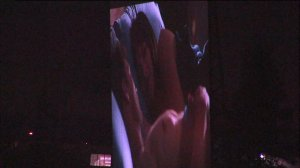 Just one look at what drivers along Highway 50 in Sacramento can see of '50 Shades of Grey' while driving by a drive-in theater.