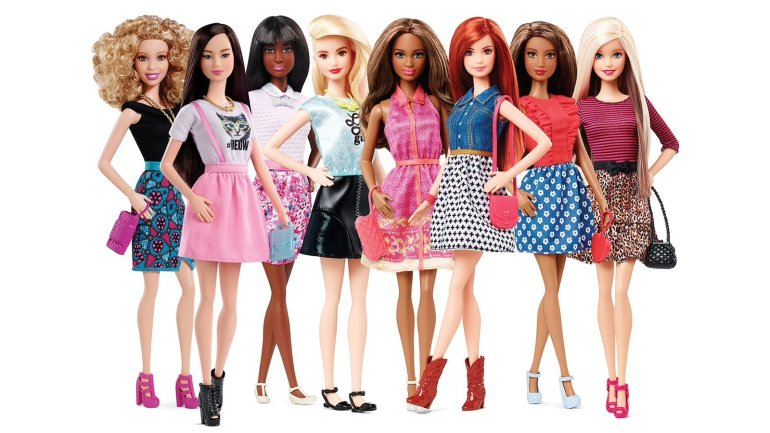 The 23 dolls of the Barbie Fashionista line, which started rolling out in January, represent eight different skin tones, 14 facial structures, 22 hairstyles, 23 hair colors and 18 eye colors. The last of the dolls should arrive in stores in October. (Courtesy: Mattel)
